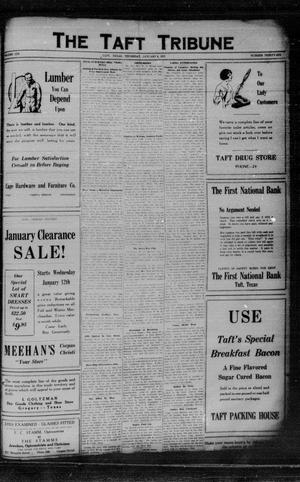 Primary view of object titled 'The Taft Tribune (Taft, Tex.), Vol. 6, No. 36, Ed. 1 Thursday, January 6, 1927'.