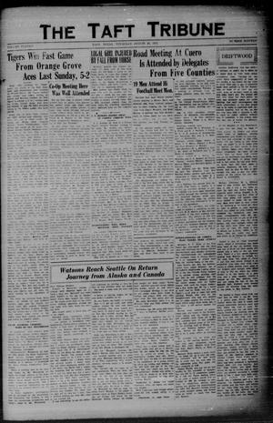 Primary view of object titled 'The Taft Tribune (Taft, Tex.), Vol. 11, No. 16, Ed. 1 Thursday, August 20, 1931'.