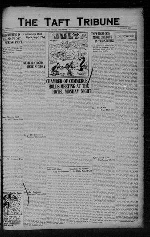 Primary view of object titled 'The Taft Tribune (Taft, Tex.), Vol. 8, No. 10, Ed. 1 Thursday, July 5, 1928'.
