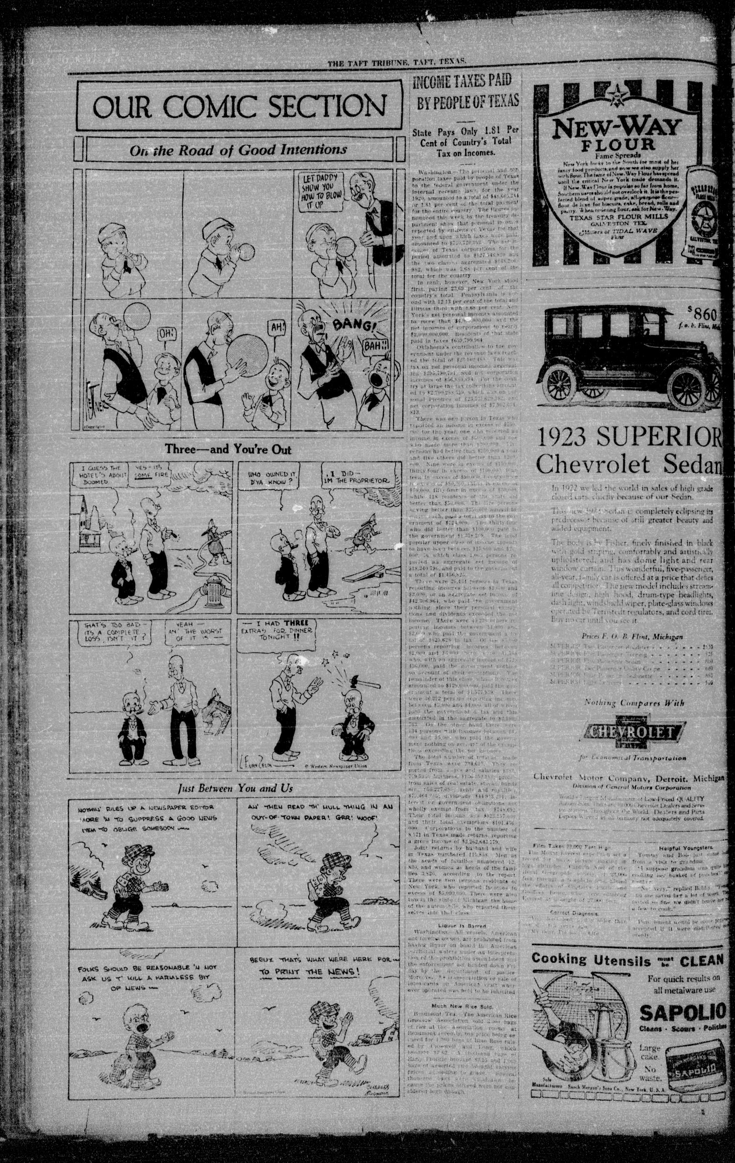 The Taft Tribune (Taft, Tex.), Vol. 2, No. 24, Ed. 1 Thursday, October 12, 1922                                                                                                      [Sequence #]: 2 of 8