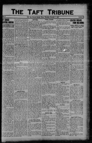 Primary view of object titled 'The Taft Tribune (Taft, Tex.), Vol. 1, No. 31, Ed. 1 Thursday, December 1, 1921'.
