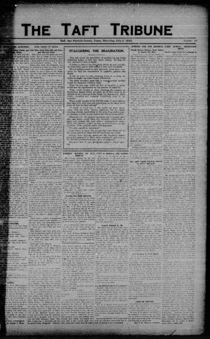 Primary view of object titled 'The Taft Tribune (Taft, Tex.), Vol. 3, No. 10, Ed. 1 Thursday, July 5, 1923'.
