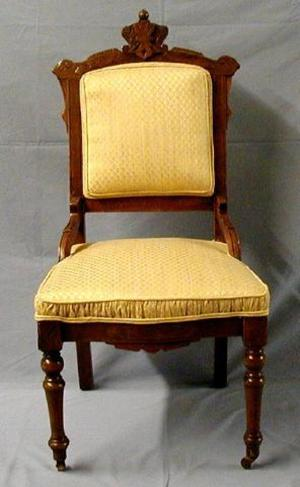 Primary view of object titled '[Eastlake side chair, gold]'.