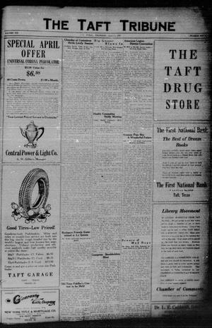 Primary view of object titled 'The Taft Tribune (Taft, Tex.), Vol. 6, No. 50, Ed. 1 Thursday, April 14, 1927'.