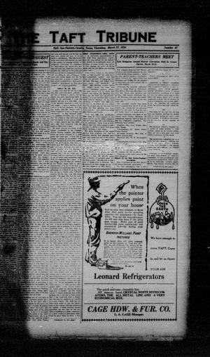 Primary view of object titled 'The Taft Tribune (Taft, Tex.), Vol. 3, No. 47, Ed. 1 Thursday, March 27, 1924'.