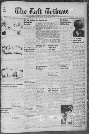 Primary view of object titled 'The Taft Tribune (Taft, Tex.), Vol. 33, No. 30, Ed. 1 Thursday, September 29, 1955'.