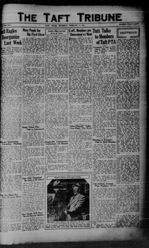 Primary view of object titled 'The Taft Tribune (Taft, Tex.), Vol. 10, No. 39, Ed. 1 Thursday, February 5, 1931'.