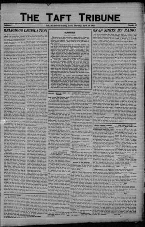 Primary view of object titled 'The Taft Tribune (Taft, Tex.), Vol. 1, No. 51, Ed. 1 Thursday, April 20, 1922'.