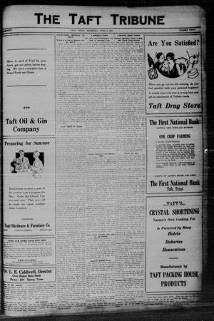 Primary view of object titled 'The Taft Tribune (Taft, Tex.), Vol. 5, No. 50, Ed. 1 Thursday, April 8, 1926'.