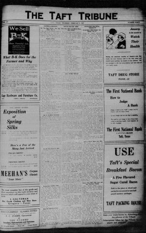 Primary view of object titled 'The Taft Tribune (Taft, Tex.), Vol. 6, No. 40, Ed. 1 Thursday, February 3, 1927'.