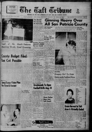 Primary view of object titled 'The Taft Tribune (Taft, Tex.), Vol. 39, No. 43, Ed. 1 Wednesday, August 2, 1961'.