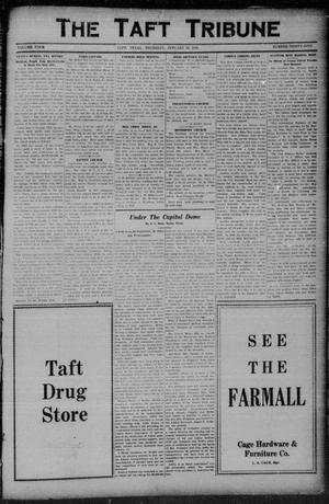 Primary view of object titled 'The Taft Tribune (Taft, Tex.), Vol. 4, No. 39, Ed. 1 Thursday, January 22, 1925'.