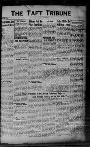 Primary view of object titled 'The Taft Tribune (Taft, Tex.), Vol. 9, No. 34, Ed. 1 Thursday, December 19, 1929'.