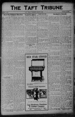 Primary view of object titled 'The Taft Tribune (Taft, Tex.), Vol. 4, No. 16, Ed. 1 Thursday, August 14, 1924'.