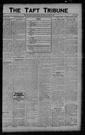 Primary view of object titled 'The Taft Tribune (Taft, Tex.), Vol. 1, No. 27, Ed. 1 Thursday, November 3, 1921'.