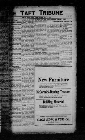 Primary view of object titled 'The Taft Tribune (Taft, Tex.), Vol. 3, No. 51, Ed. 1 Thursday, April 17, 1924'.