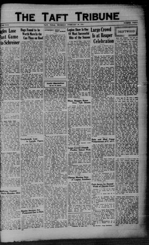 Primary view of object titled 'The Taft Tribune (Taft, Tex.), Vol. 10, No. 41, Ed. 1 Thursday, February 19, 1931'.