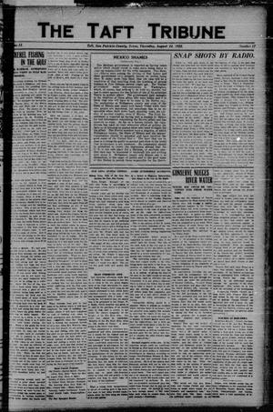 Primary view of object titled 'The Taft Tribune (Taft, Tex.), Vol. 2, No. 17, Ed. 1 Thursday, August 24, 1922'.