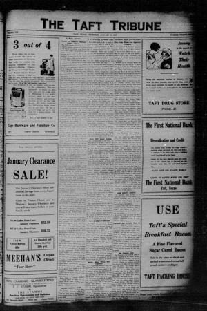 Primary view of object titled 'The Taft Tribune (Taft, Tex.), Vol. 6, No. 37, Ed. 1 Thursday, January 13, 1927'.