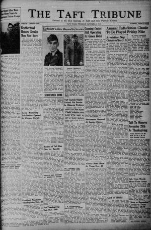 Primary view of object titled 'The Taft Tribune (Taft, Tex.), Vol. 25, No. 25, Ed. 1 Thursday, November 1, 1945'.