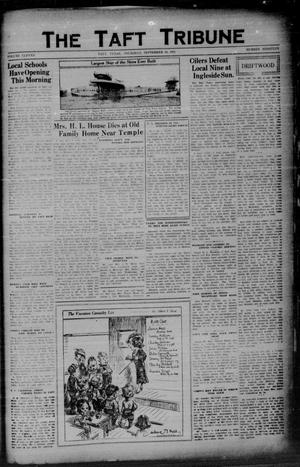 Primary view of object titled 'The Taft Tribune (Taft, Tex.), Vol. 11, No. 19, Ed. 1 Thursday, September 10, 1931'.