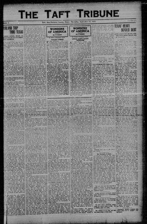 Primary view of object titled 'The Taft Tribune (Taft, Tex.), Vol. 1, No. 20, Ed. 1 Thursday, September 15, 1921'.