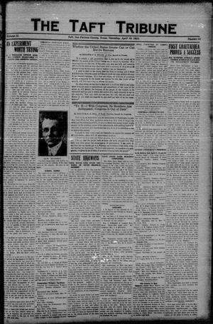 Primary view of object titled 'The Taft Tribune (Taft, Tex.), Vol. 2, No. 51, Ed. 1 Thursday, April 19, 1923'.