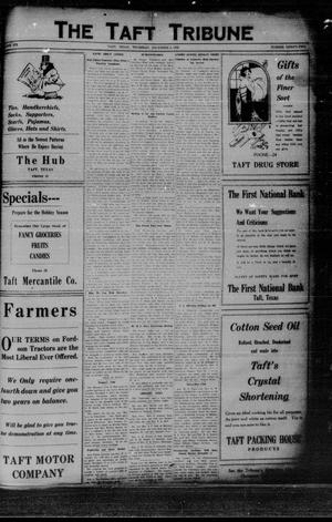 Primary view of object titled 'The Taft Tribune (Taft, Tex.), Vol. 6, No. 32, Ed. 1 Thursday, December 9, 1926'.