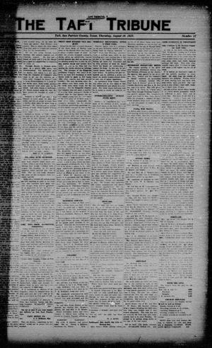 Primary view of object titled 'The Taft Tribune (Taft, Tex.), Vol. 3, No. 17, Ed. 1 Thursday, August 16, 1923'.