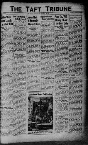 Primary view of object titled 'The Taft Tribune (Taft, Tex.), Vol. 10, No. 38, Ed. 1 Thursday, January 29, 1931'.