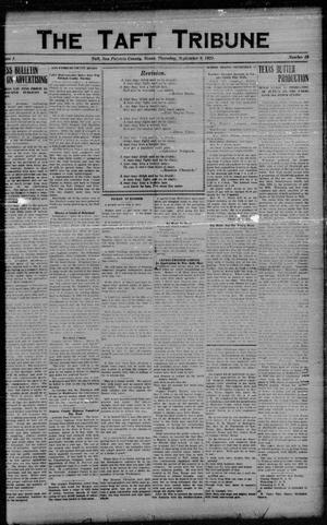 Primary view of object titled 'The Taft Tribune (Taft, Tex.), Vol. 1, No. 19, Ed. 1 Thursday, September 8, 1921'.