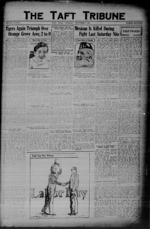 Primary view of object titled 'The Taft Tribune (Taft, Tex.), Vol. 11, No. 18, Ed. 1 Thursday, September 3, 1931'.