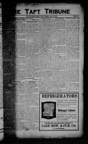 Primary view of object titled 'The Taft Tribune (Taft, Tex.), Vol. 3, No. 52, Ed. 1 Thursday, April 24, 1924'.