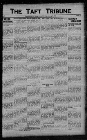 Primary view of object titled 'The Taft Tribune (Taft, Tex.), Vol. 1, No. 36, Ed. 1 Thursday, January 5, 1922'.