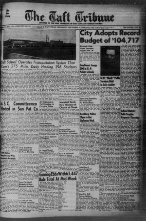 Primary view of object titled 'The Taft Tribune (Taft, Tex.), Vol. 37, No. 29, Ed. 1 Wednesday, September 16, 1959'.