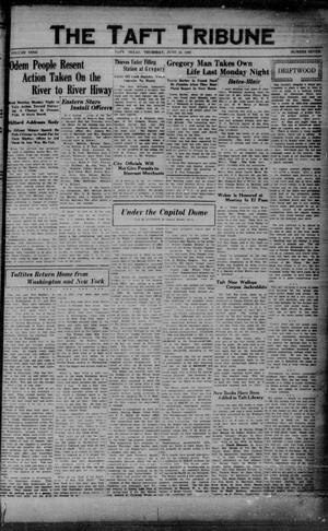 Primary view of object titled 'The Taft Tribune (Taft, Tex.), Vol. 9, No. 7, Ed. 1 Thursday, June 13, 1929'.