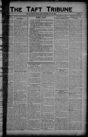 Primary view of object titled 'The Taft Tribune (Taft, Tex.), Vol. 3, No. 14, Ed. 1 Thursday, July 26, 1923'.