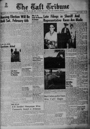 Primary view of object titled 'The Taft Tribune (Taft, Tex.), Vol. 37, No. 49, Ed. 1 Wednesday, February 3, 1960'.