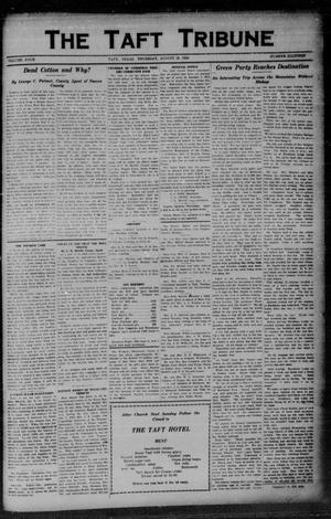 Primary view of object titled 'The Taft Tribune (Taft, Tex.), Vol. 4, No. 18, Ed. 1 Thursday, August 28, 1924'.