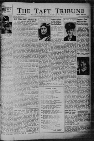 Primary view of object titled 'The Taft Tribune (Taft, Tex.), Vol. 24, No. 25, Ed. 1 Thursday, October 26, 1944'.