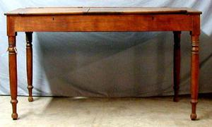 Child's school desk, oak wood