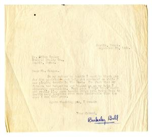 Primary view of object titled '[Correspondence to Richard Niles Graham from Richard Berkeley Bell]'.