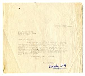 [Correspondence to Richard Niles Graham from Richard Berkeley Bell]