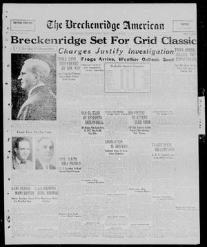 Primary view of object titled 'The Breckenridge American (Breckenridge, Tex.), Vol. 10, No. 265, Ed. 1, Friday, October 3, 1930'.