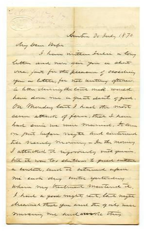 [Correspondence from E.M. Pease to Lucadia Pease]