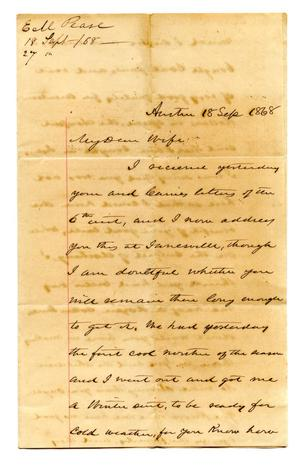 [Correspondence to Lucadia Pease from E.M. Pease]