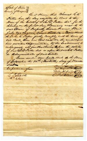 Primary view of object titled '[Deed for purchase of slaves]'.