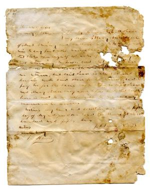 Primary view of [Agreement for E.M. Pease's purchase of slave named Mary Ann from J.M. Prewitt]