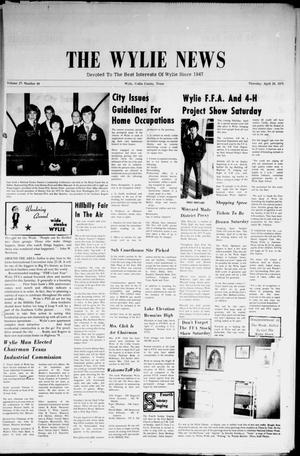 Primary view of object titled 'The Wylie News (Wylie, Tex.), Vol. 27, No. 44, Ed. 1 Thursday, April 24, 1975'.