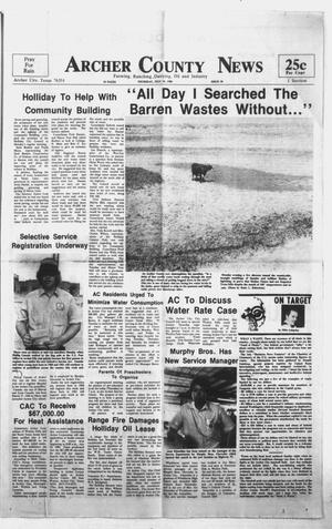 Primary view of object titled 'Archer County News (Archer City, Tex.), No. 30, Ed. 1 Thursday, July 24, 1980'.
